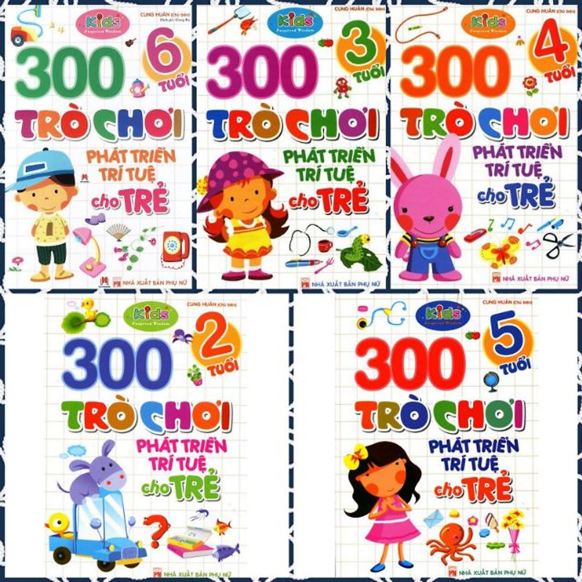 Hình đại diện sản phẩm Trọn bộ 300 Trò chơi Phát Triển Trí Tuệ cho trẻ - ( 2 Tuổi, 3 tuổi, 4 Tuổi, 5 Tuổi, 6 Tuổi)