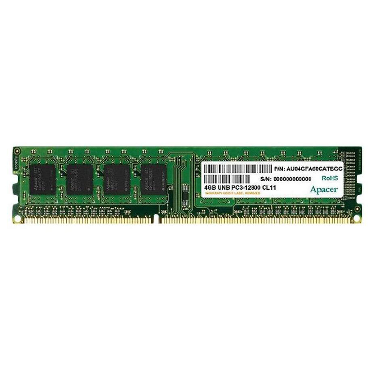 RAM PC Apacer DDR3 1600 4G DL.04G2K.HAM - Hàng Chính Hãng