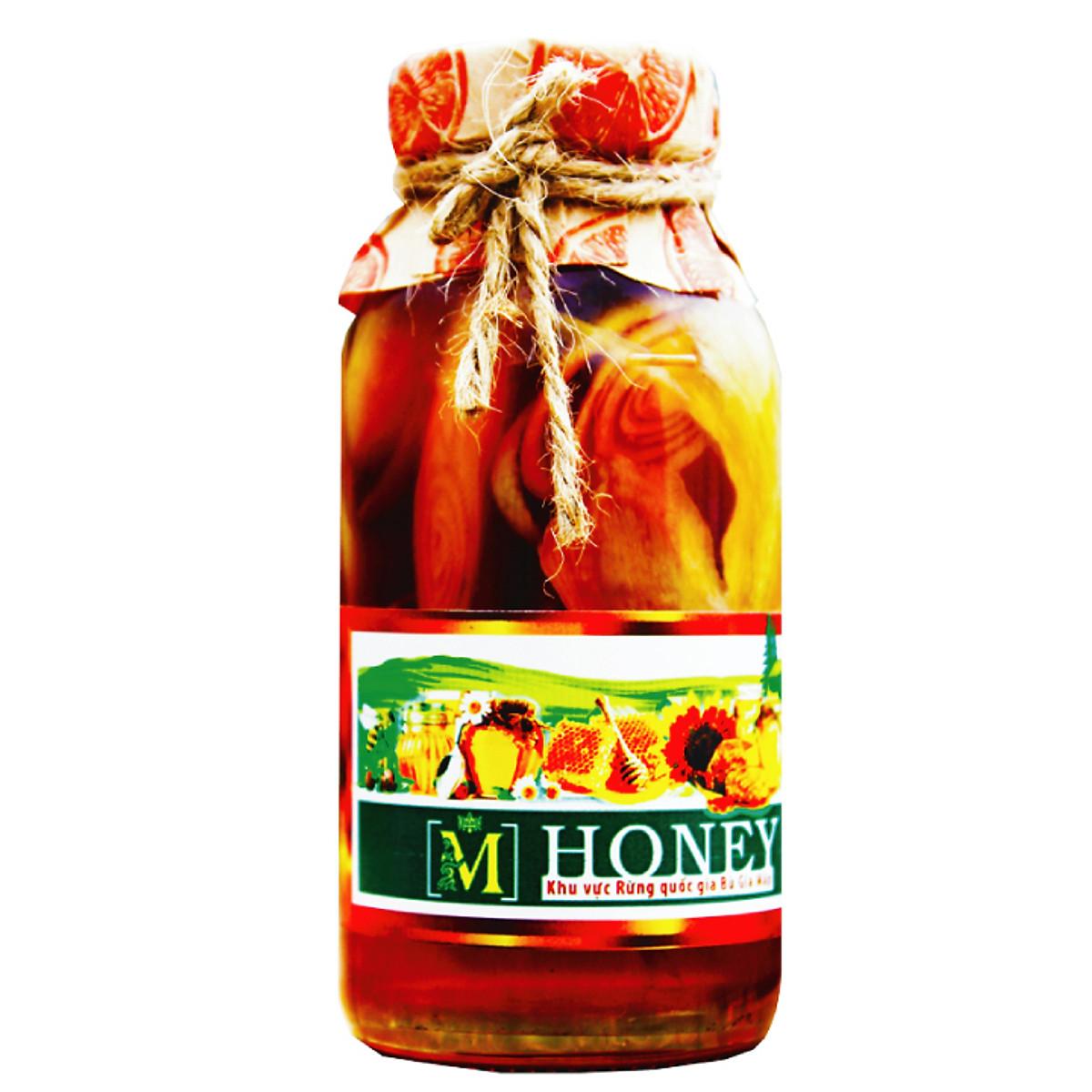 Mật ong rừng ngâm thảo dược quí - Trị ho, Viêm họng, giải độc, giảm cân, đẹp da 100ml