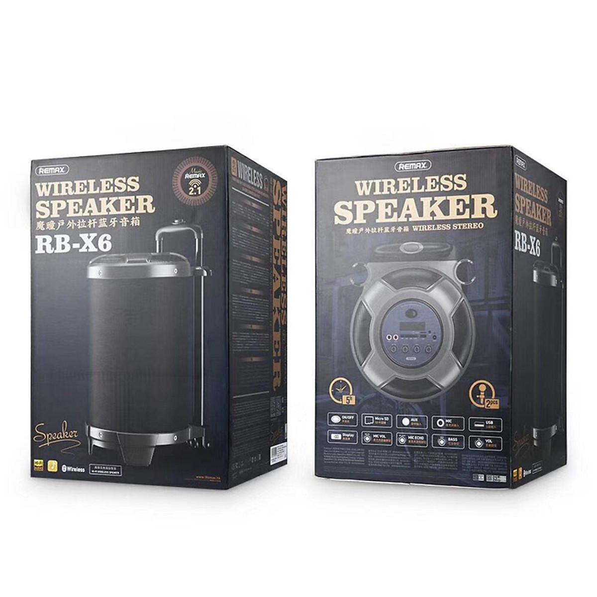 Loa Kéo Karaoke Remax RB-X6 công suất 50W tích hợp 2 micro không dây - Hàng  nhập khẩu | Nhất Tín Computer (TpHCM)