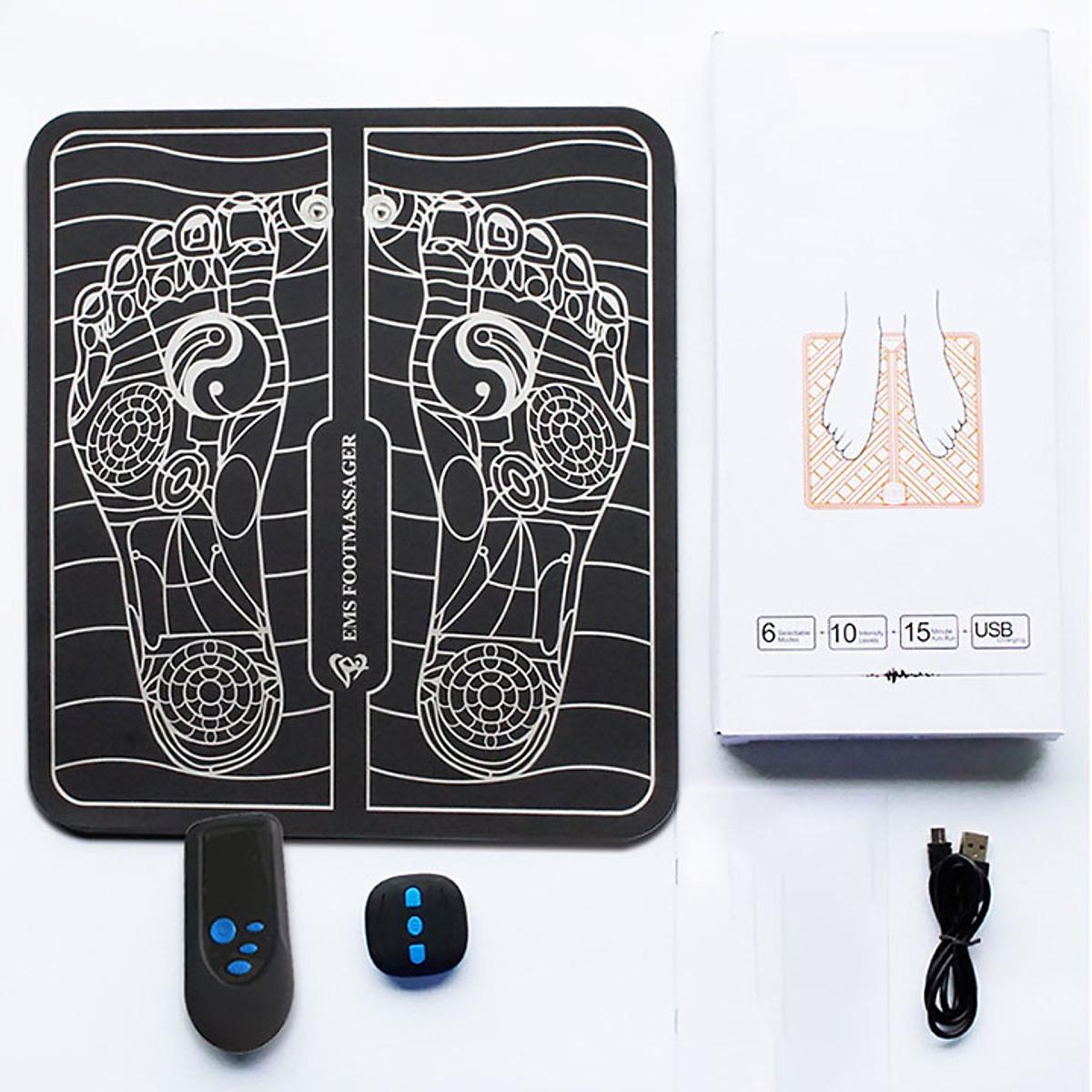 Tấm miếng matxa chân -máy massage lòng bàn chân xung điện có điều khiển    undefined   Tiki