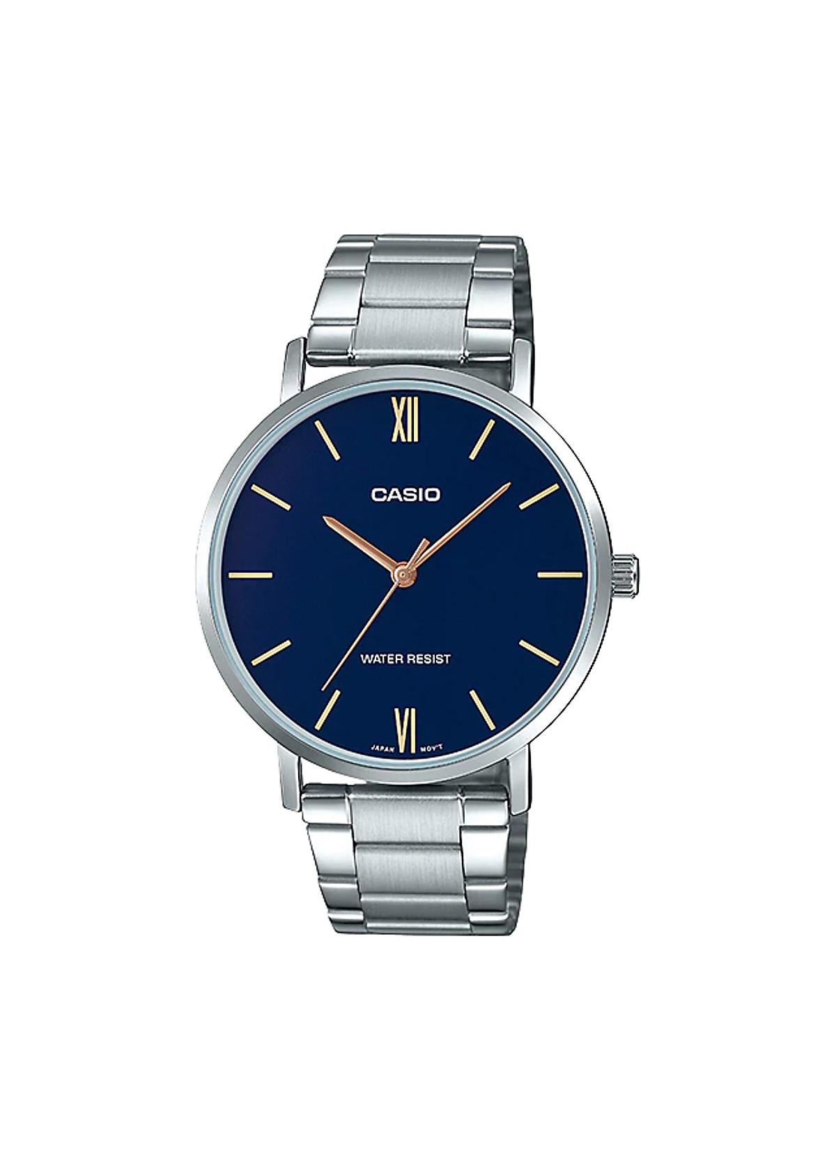 Đồng hồ Casio nam dây thép MTP-VT01D-2BUDF (40mm)
