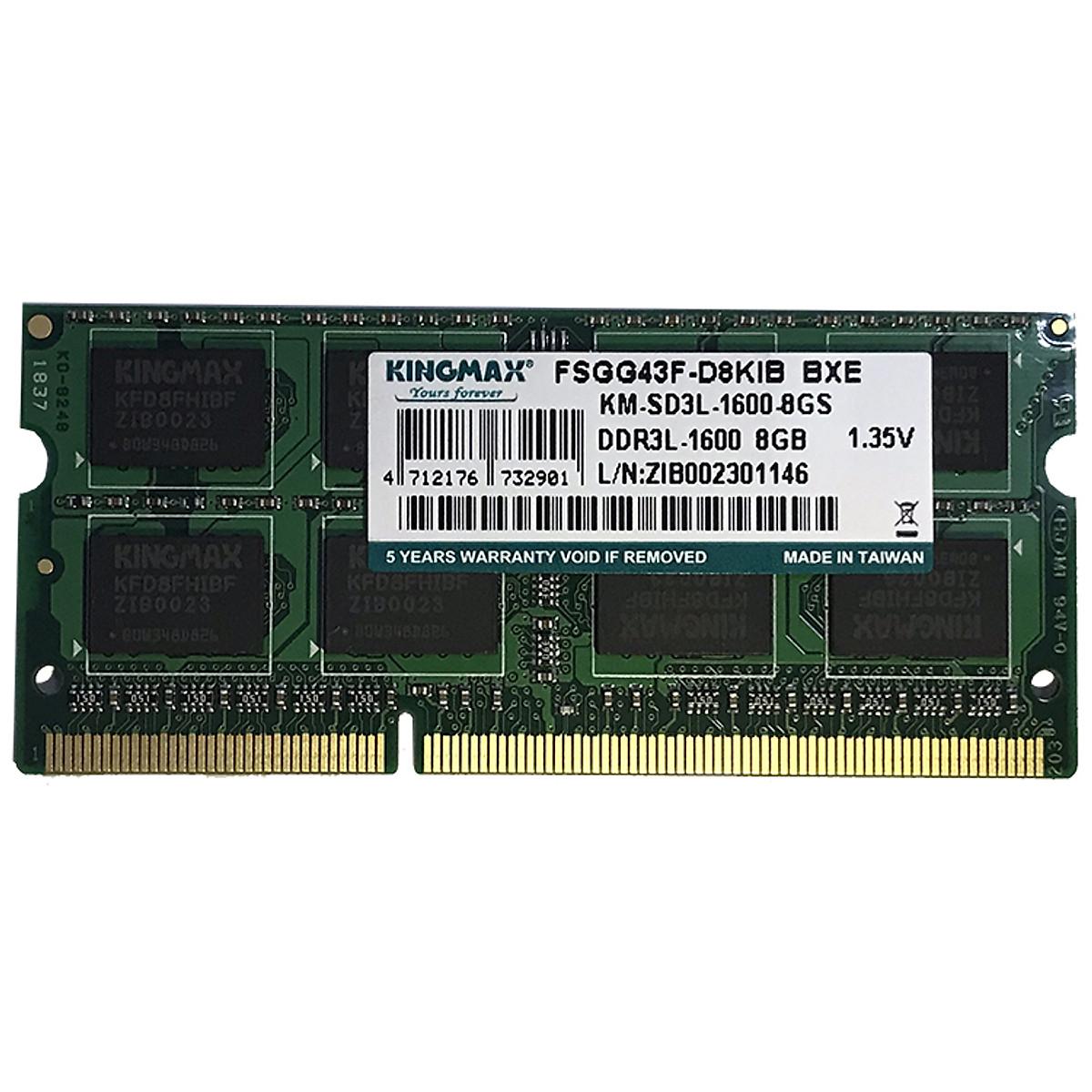 Hình đại diện sản phẩm Ram Laptop Kingmax DDR3L NB - bus 1600 8GB