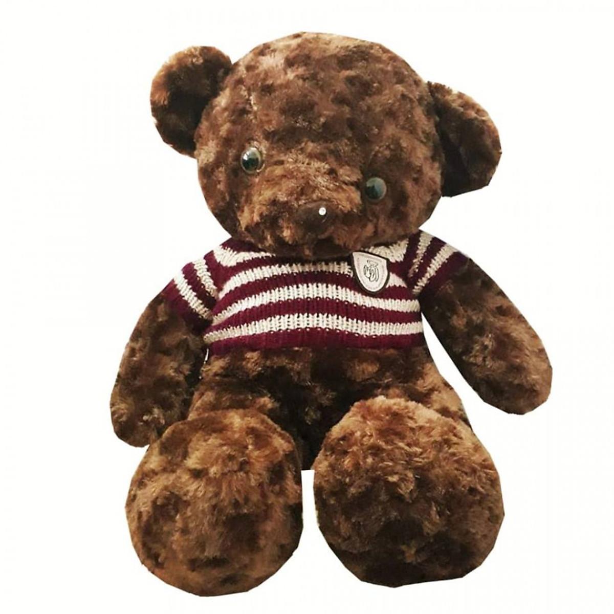 Gấu bông teddy áo kẻ 60cm