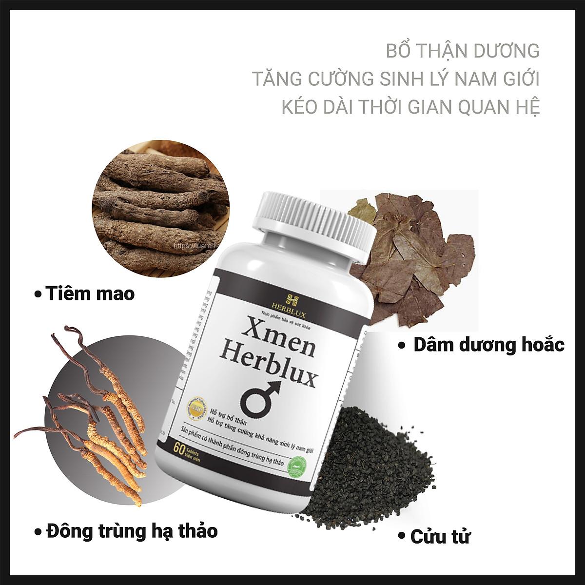 Viên uống tăng cường sinh lý nam Xmen Herblux bổ thận, giảm nguy cơ mãn dục nam giới   herblux   Tiki