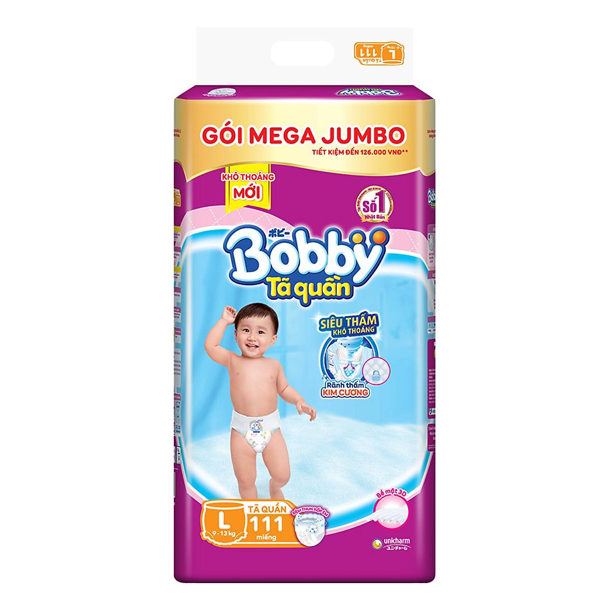 Tã Quần Bobby Gói Mega Jumbo L111 (111 Miếng)   Tiki.vn