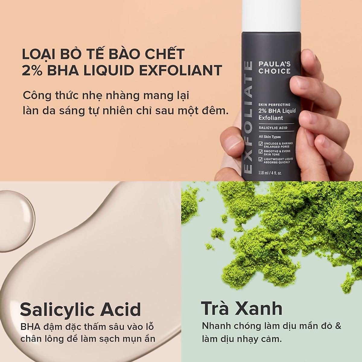 Dung Dịch Loại Bỏ Tế Bào Chết 2% BHA Paula's Choice Skin Perfecting 2% BHA  Liquid Exfoliant (118ml)   iStore Vietnam   Tiki