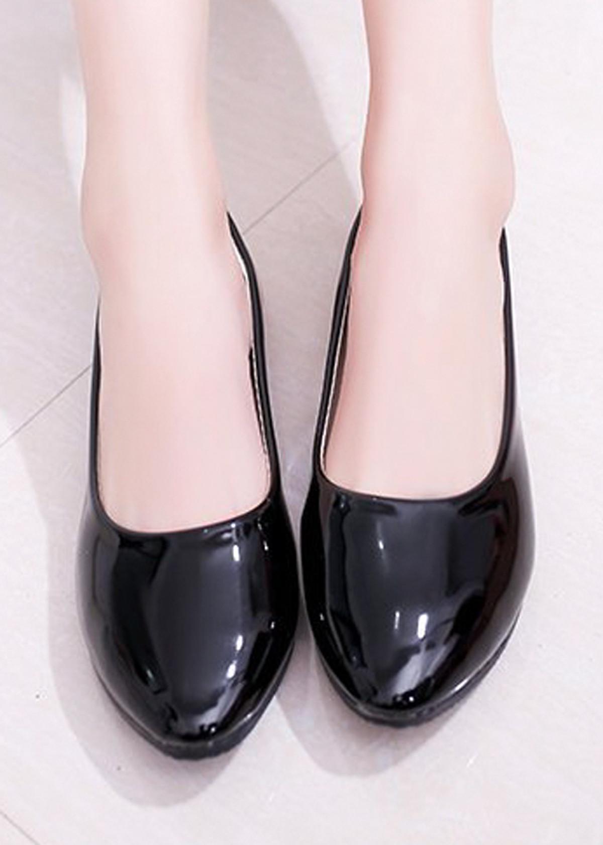 Giày búp bê da bóng mềm không đau chân , dáng chuẩn 96309 74