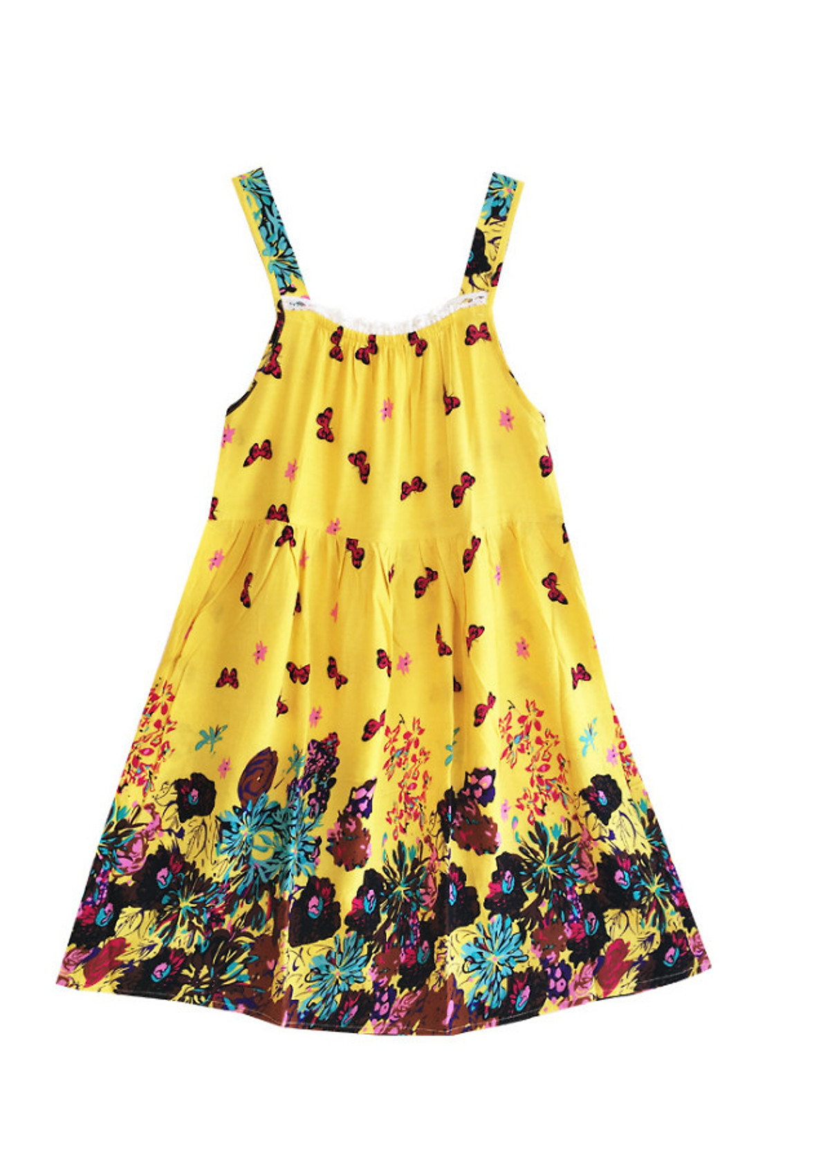 Váy hai dây mặc nhà mặc đi ngủ chất lanh mềm mịn thấm hút mồ hôi ( ĐỦ MÀU)