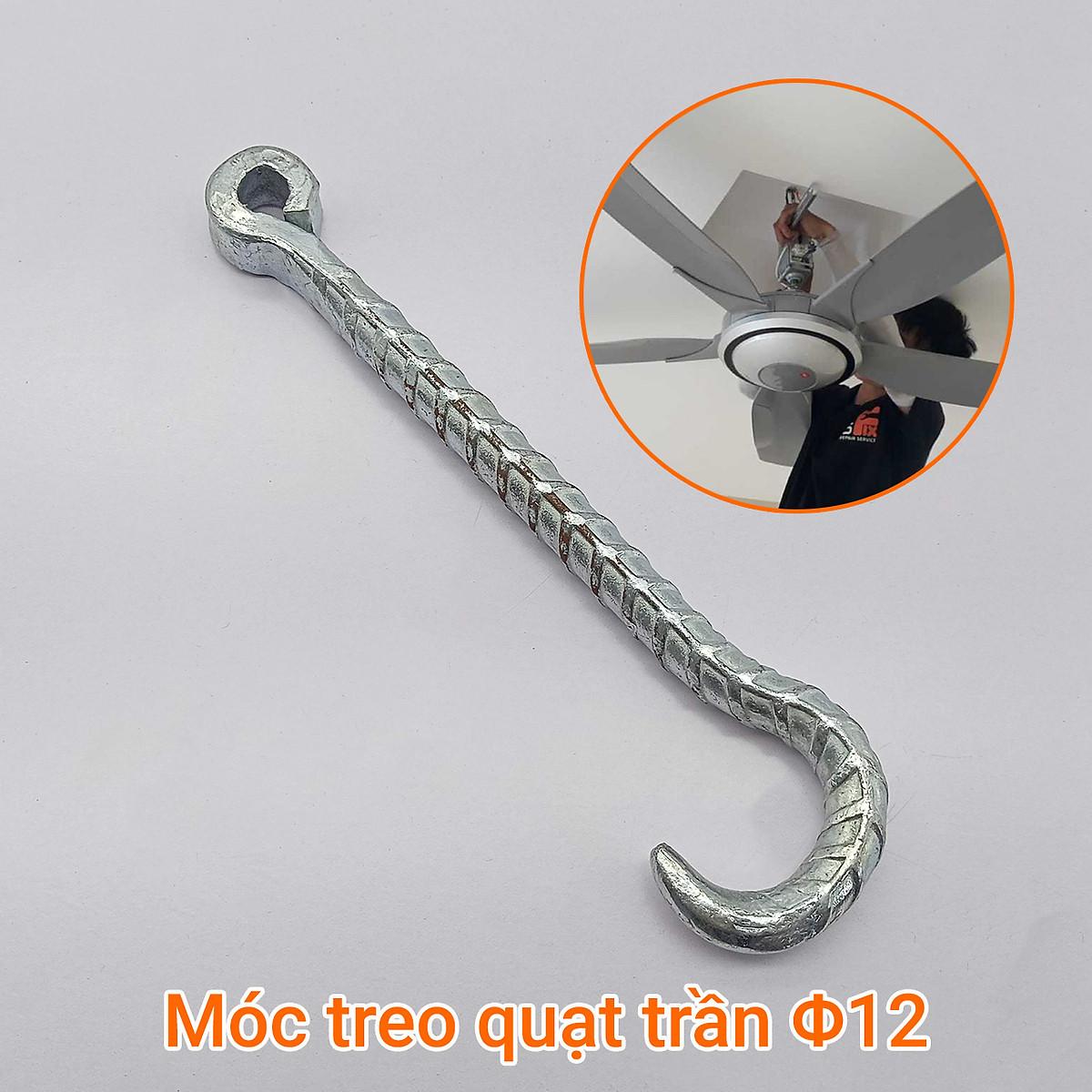 Móc treo quạt trần chất liệu hợp kim thép