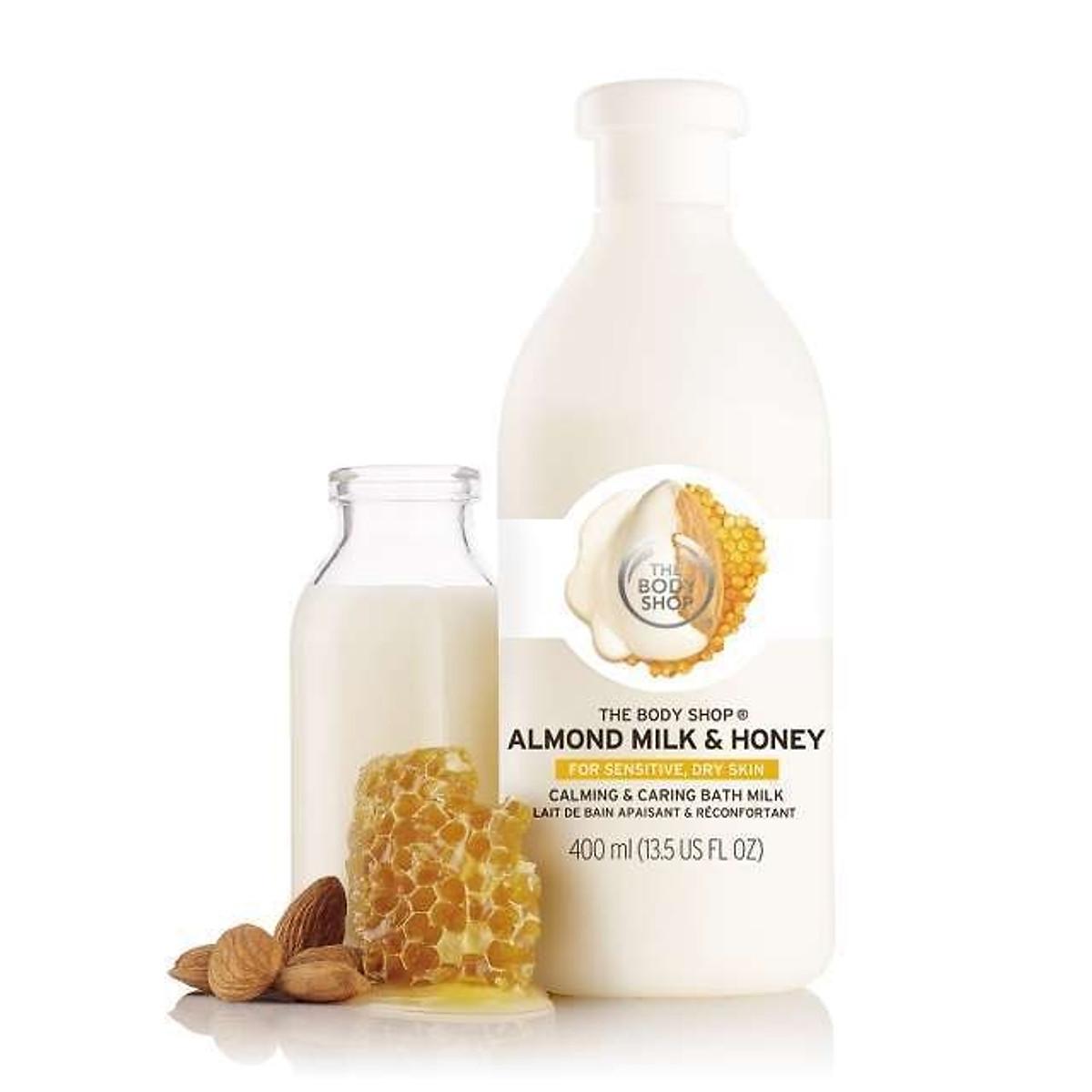 Hình đại diện sản phẩm Sữa Tắm Bồn The Body Shop Almond Milk & Honey Calming & Caring Bath Milk (400ml)