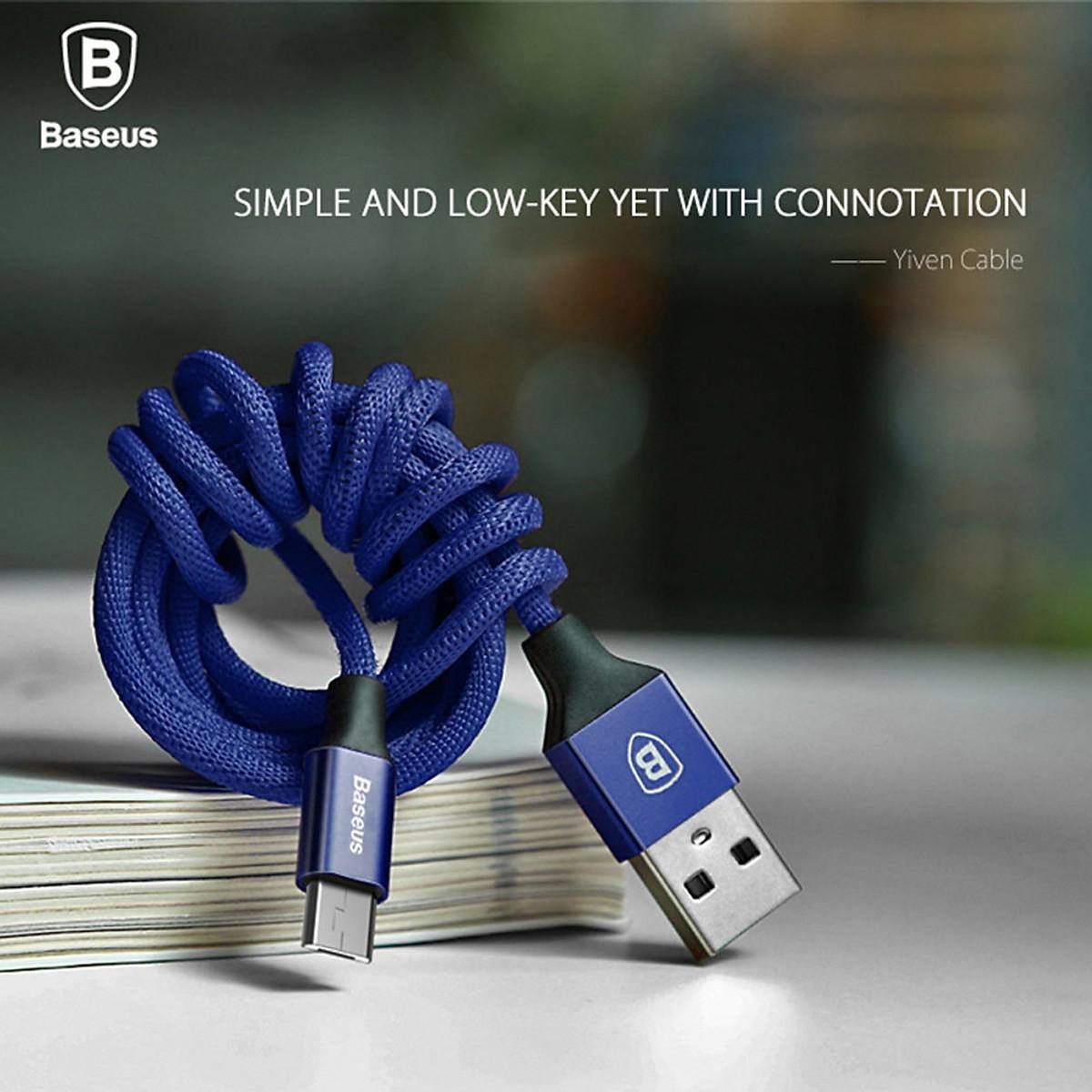 Cáp sạc USB ra Micro USB Baseus Yiven dài 1m - Hàng chính hãng 12
