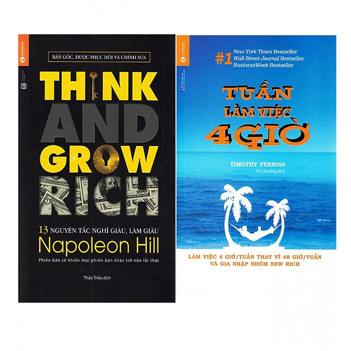 Hình đại diện sản phẩm Combo Tuần Làm Việc 4 Giờ (Tái Bản) + 13 Nguyên Tắc Nghĩ Giàu Làm Giàu - Think And Grow Rich (Tái Bản)