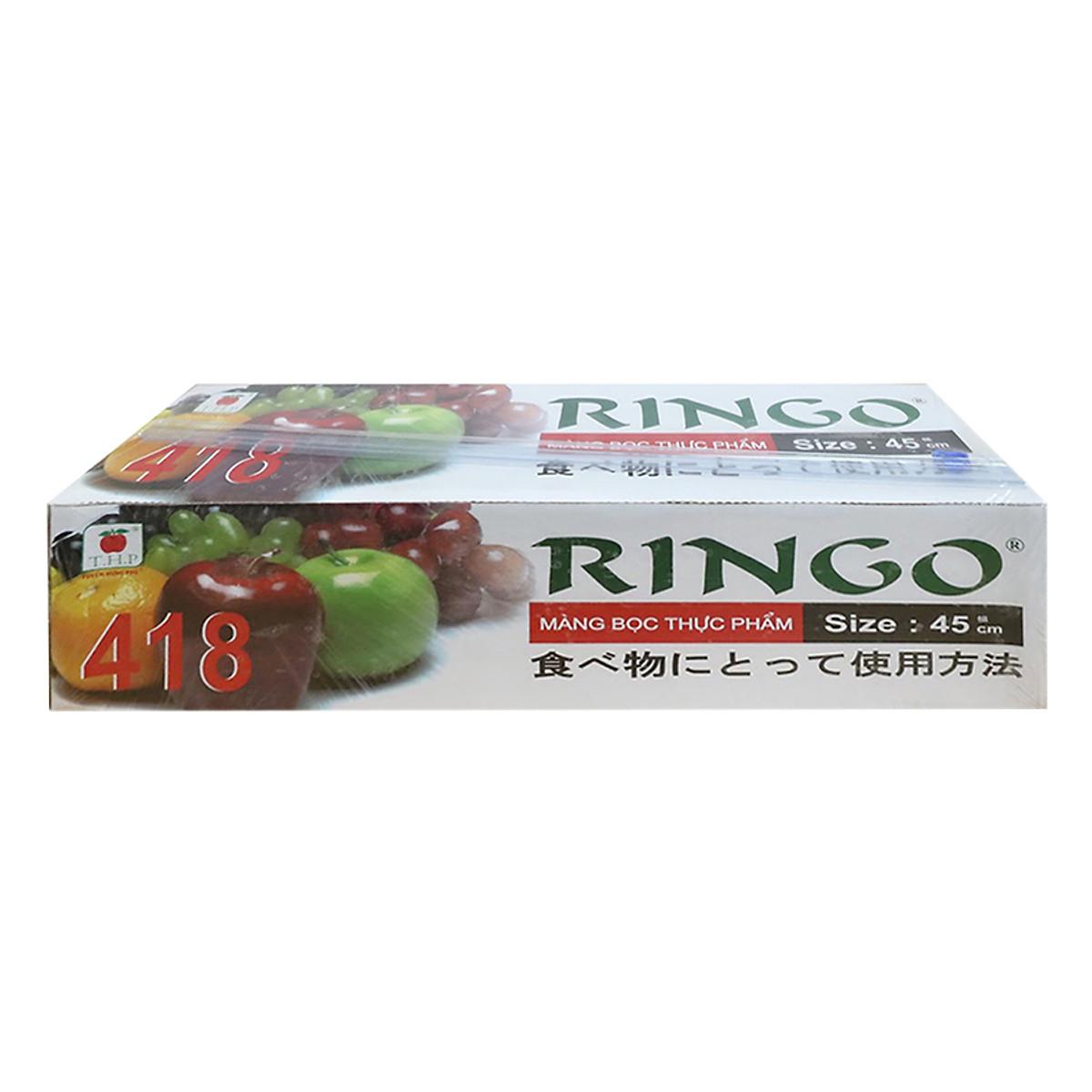 Hình đại diện sản phẩm Màng Bọc Thực Phẩm Ringo PVC ST418SC 8936009561322 (45cm x 300m)