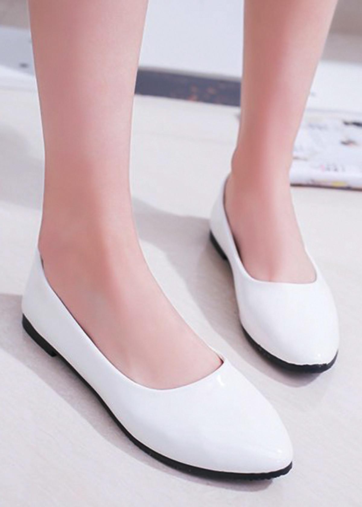 Giày búp bê da bóng mềm không đau chân , dáng chuẩn 96309 29