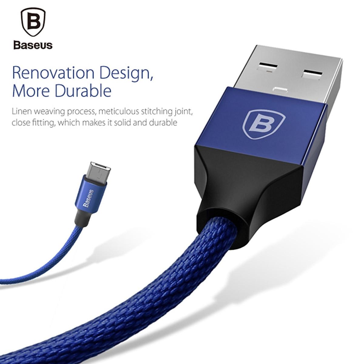 Cáp sạc USB ra Micro USB Baseus Yiven dài 1m - Hàng chính hãng - 5