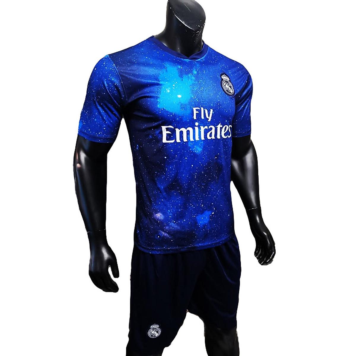 Bộ Quần Áo Đá Banh Real Madrid Phiên Bản Galaxy - Dải Ngân Hà