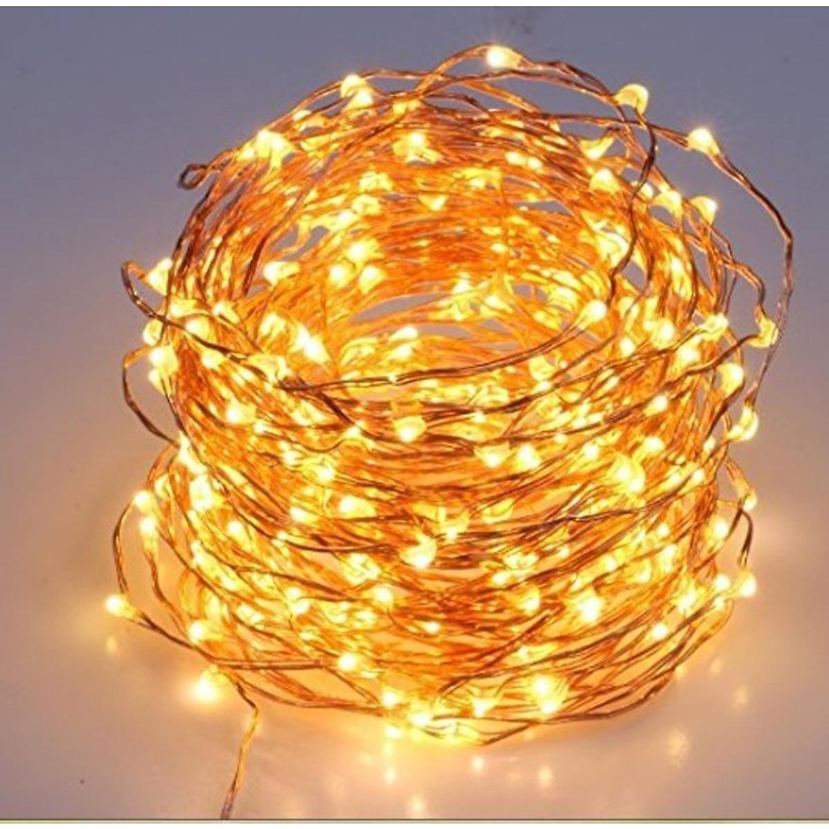 Dây đèn Fairy Light đom đóm chipsbling 10 mét dùng pin AA 13