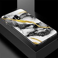 Ốp kính cường lực cho điện thoại Samsung Galaxy J7 Plus - hình vân Đá MS VANDA001 - Hàng Chính Hãng