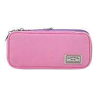 KOKUYO light color cookie double zipper portable large capacity student pencil case pencil powder / purple WSG-PCC12-2
