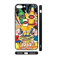 Ốp kính cho iPhone in hình Bia Sài Gòn - Chib003 (có đủ mã máy)