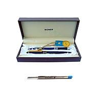 Combo Ruột và Bút bi cao cấp Thiên Long - Bizner TL-076 - màu xanh (tặng kèm Bút chì PC-016)