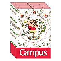 Lốc 10 Cuốn Vở 4 Ô Ly (2,5X2,5Mm) Campus Shinchan Floral NB-BSCF48 - ĐL 100 (48 Trang) - Giao Mẫu Ngẫu Nhiên