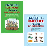 Combo English For Travel - Tiếng Anh Vòng Quanh Thế Giới + English For Daily Life - Tiếng Anh Xoay Quanh Cuộc Sống