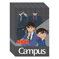 Lốc 10 Cuốn Vở Kẻ Ngang B5 Có Chấm Campus Conan - Black Syndicate NB-BCBS120 - ĐL 58-65 (120 Trang) - Mẫu Ngẫu Nhiên