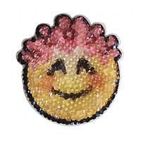 Sticker bằng pha lê Swarovski - Hình icon Smiley