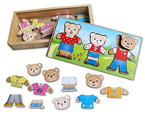 Đồ chơi gỗ Winwintoys 68232 - Thời trang gia đình gấu
