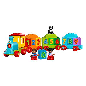 Mô hình Lego Duplo 10847 – Tàu lửa học số mới