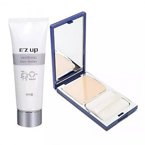 Bộ Sản Phẩm E'Zup: Sữa Rửa Mặt Whitening (30g) + Phấn Nền Pure Bright Lasting (15g) [QC-Tiki]