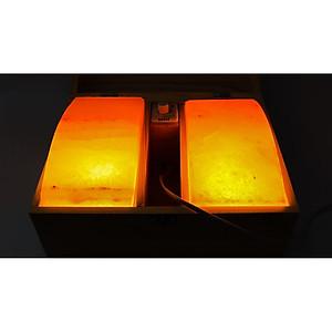 Hộp Đá Muối 2 Viên Đá Cong Massage Có Đèn [QC-Tiki]