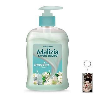 Nước rửa tay xạ hương trắng Malizia Liquid Soap White Musk 300ml tặng kèm móc khóa [QC-Tiki]