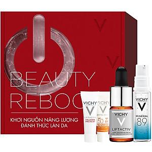 Bộ sản phẩm VICHY Beauty ReBoost Box giúp làm sáng và làm tươi trẻ làn da [QC-Tiki]