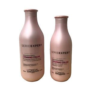 Bộ dầu gội xả chăm sóc giữ màu tóc nhuộm L'oreal Serie Expert Resveratrol Vitamino color radiance 300ml + 200ml [ Mới Chính Hãng] [QC-Tiki]