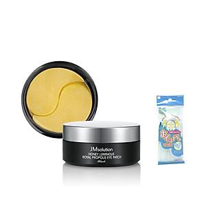 Mặt Nạ Dưỡng Da Vùng Mắt Chiết Xuất Mật Ong JMsolution Honey Luminious Royal Propolis Eye Patch 90g + Tặng Kèm 1 Túi Lưới Rửa Mặt Tạo Bọt [QC-Tiki]