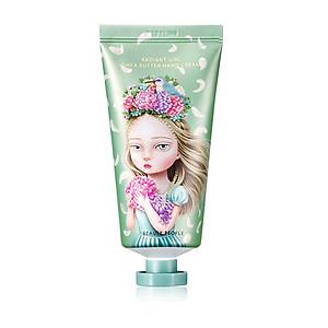 Kem dưỡng da tay bơ hạt mỡ hương đào BEAUTY PEOPLE Radiant Girl Shea Butter Hand Cream 80g [QC-Tiki]