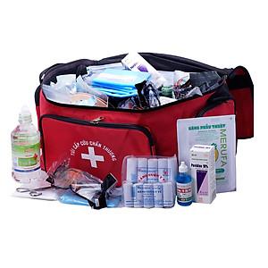 Túi Sơ cấp cứu, Túi Cứu Thương, Túi Cấp Cứu, Túi y tế bộ C màu đỏ theo Thông Tư không kèm nẹp [QC-Tiki]
