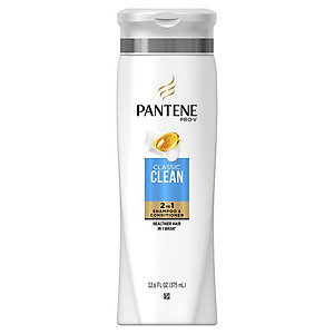 Dầu Gội & Xả Pantene Pro-V Clacssic Clean 2in1 375ml - USA [QC-Tiki]