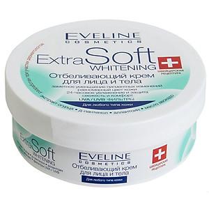 Kem làm trắng da Eveline Whitening Face and Body Cream Extra Soft 200ml [QC-Tiki]