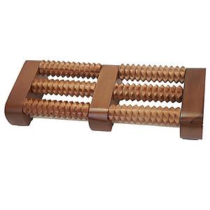 Bàn lăn gỗ massage chân 3 hàng [QC-Tiki]