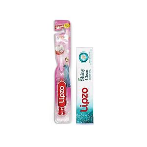 Bàn chải Lipzo Kids S1 Tặng 01 Kem đánh răng Lipzo Shiny Clean 19g [QC-Tiki]