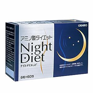 Viên uống Night Diet Orihiro Nhật Bản giúp giảm cân ban đêm, hỗ trợ làm đẹp da, ngủ ngon, 60 gói x 6 viên/hộp, trong 1 tháng, HÀNG CHÍNH HÃNG [QC-Tiki]