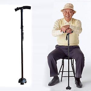 Gậy cho người già chống trượt có đèn Led [QC-Tiki]