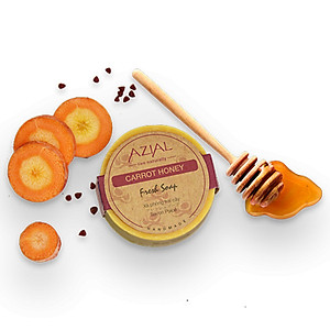 Xà Phòng Tắm Trái Cây Tinh Dầu Cam Ngọt 100% Thiên Nhiên AZIAL Carrot Honey Fresh Soap 100g [QC-Tiki]