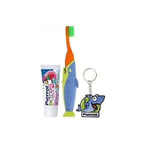 Bộ kit chăm sóc răng miệng trẻ em Cá mập Pierrot [QC-Tiki]