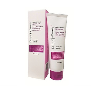Gel tẩy da chết mặt Daily Beauty Brightening Peeling Gel R&B xuất sứ LB Cosmetic Hàn Quốc, chiết xuất 100% tự nhiên, tẩy sạch hiệu quả, an toàn, dịu nhẹ với da, 120ml [QC-Tiki]