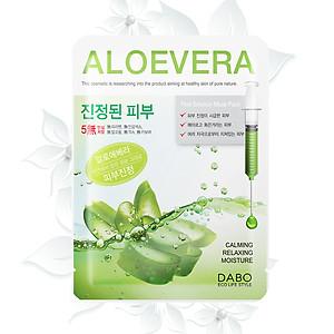 Đắp mặt nạ lô hội trắng da trị mụn Dabo Aloe - COMBO 5 GÓI - Hàn Quốc Chính Hãng [QC-Tiki]